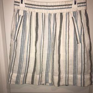 Loft linen mini skirt